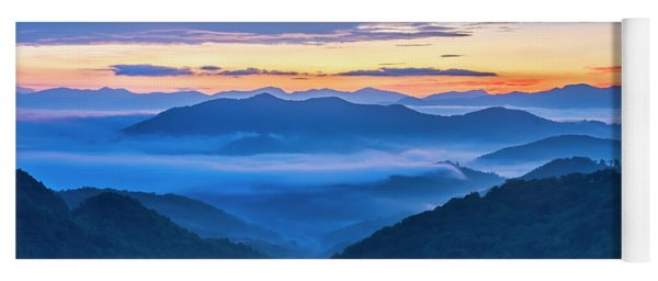 Sunrise Over The Valley Yoga Mat
