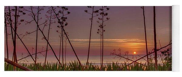 Sunrise Palm Blooms Yoga Mat