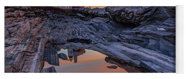 Sunrise Reflections At Pemaquid Point Yoga Mat