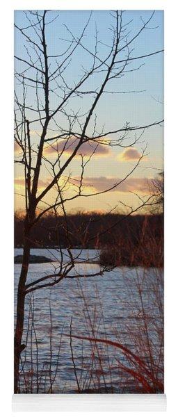 Sunset On The River Yoga Mat