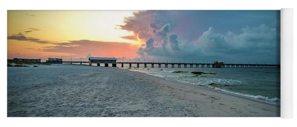 Sunrise Seascape Gulf Shores Al Pier 064a Yoga Mat