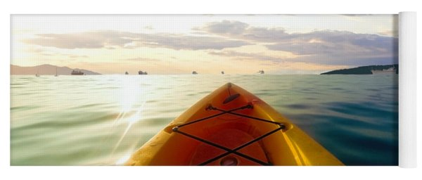 Sunrise Seascape Kayak Adventure Yoga Mat