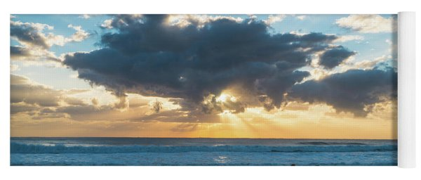 Sunrise Surfer Running Delray Beach Florida Yoga Mat