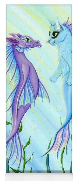 Sunrise Swim - Sea Dragon Mermaid Cat Yoga Mat