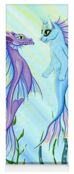 Sunrise Swim - Sea Dragon Mermaid Cat Yoga Mat