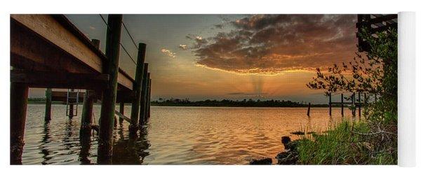 Sunrise Under The Dock Yoga Mat