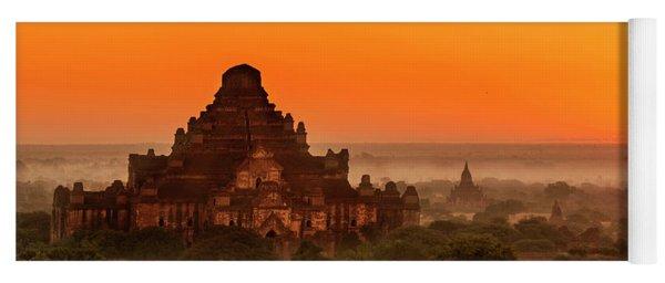 Yoga Mat featuring the photograph Sunrise View Of Dhammayangyi Temple by Pradeep Raja Prints