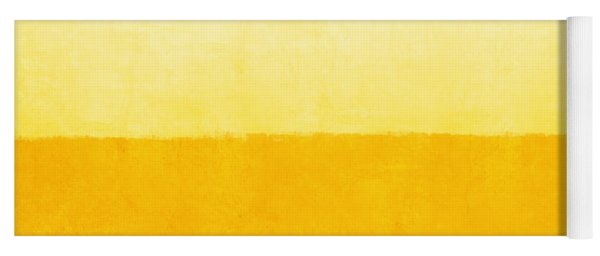 Sunrise- Yellow Abstract Art By Linda Woods Yoga Mat
