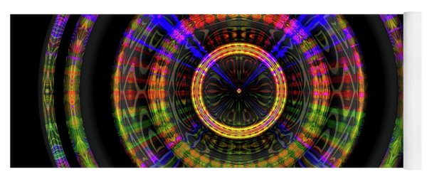 Yoga Mat featuring the digital art Sunset 1, Series II by Visual Artist Frank Bonilla