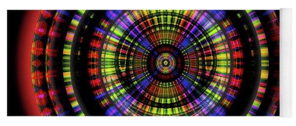 Yoga Mat featuring the digital art Sunset 10, Series II by Visual Artist Frank Bonilla