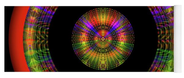 Yoga Mat featuring the digital art Sunset 12, Series II by Visual Artist Frank Bonilla