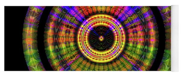 Yoga Mat featuring the digital art Sunset 2, Series II by Visual Artist Frank Bonilla