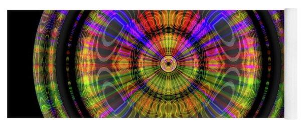 Yoga Mat featuring the digital art Sunset 3, Series II by Visual Artist Frank Bonilla