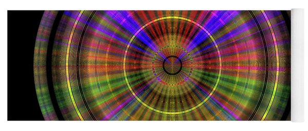 Yoga Mat featuring the digital art Sunset 4, Series II by Visual Artist Frank Bonilla