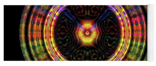 Yoga Mat featuring the digital art Sunset 6, Series II by Visual Artist Frank Bonilla