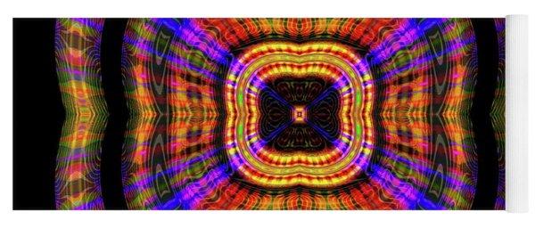 Yoga Mat featuring the digital art Sunset 7, Series II by Visual Artist Frank Bonilla