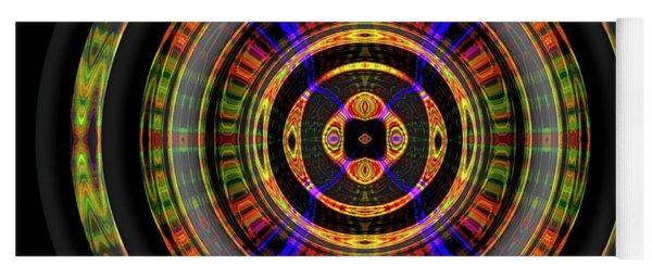 Yoga Mat featuring the digital art Sunset 8, Series II by Visual Artist Frank Bonilla