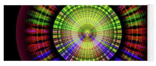 Yoga Mat featuring the digital art Sunset 9, Series II by Visual Artist Frank Bonilla