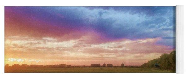 Sunset Across Cheshire Yoga Mat