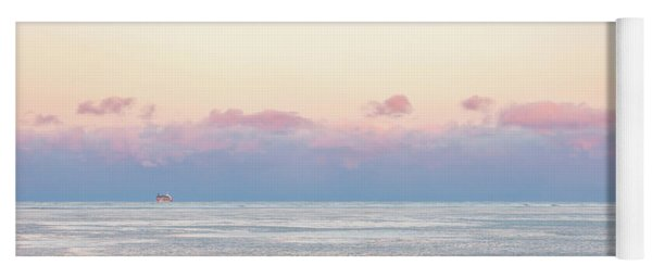 Sunset Across The Frozen Lake Yoga Mat