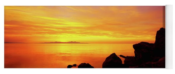 Sunset And Fire Yoga Mat