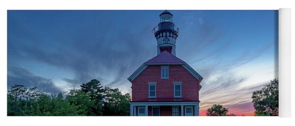 Sunset At Au Sable Point Lighthouse Yoga Mat