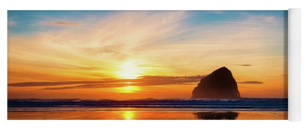 Sunset At Cape Kiwanda Yoga Mat