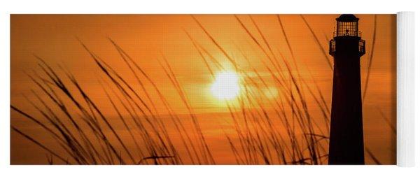 Sunset At Cm Lighthouse Yoga Mat