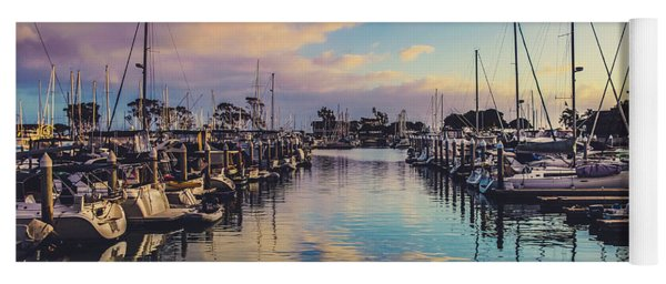 Sunset At Dana Point Harbor Yoga Mat