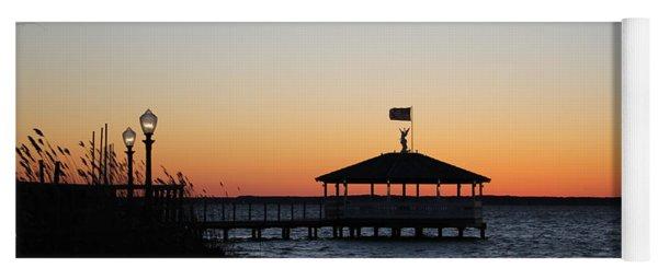 Sunset At Fagers Island Gazebo Yoga Mat