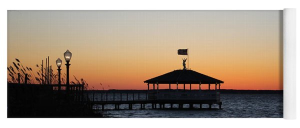Sunset At Fagers Island Gazebo Yoga Mat