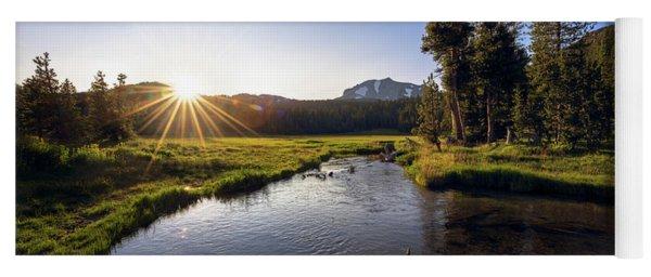 Sunset At Kings Creek In Lassen Volcanic National Yoga Mat
