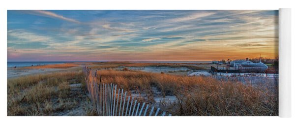 Sunset At Lighthouse Beach In Chatham Massachusetts Yoga Mat