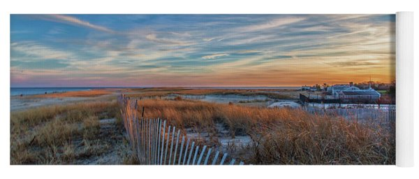 Sunset At Lighthouse Beach In Chatham Massachusetts Yoga Mat
