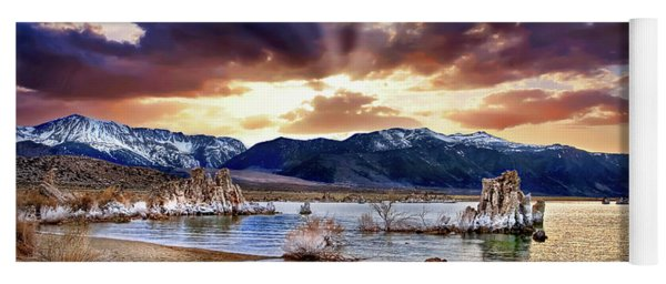 Sunset At Mono Lake Yoga Mat
