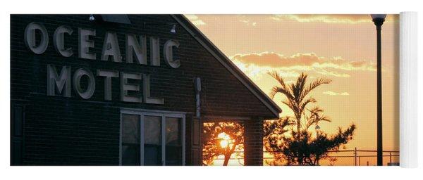 Sunset At Oceanic Motel Yoga Mat