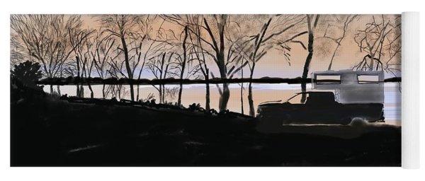 Sunset At Pelican Lake Yoga Mat