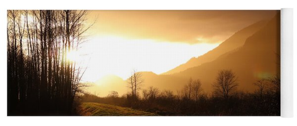 Sunset At Pitt Lake Dyke Yoga Mat