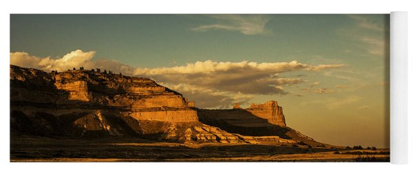 Sunset At Scotts Bluff National Monument Yoga Mat