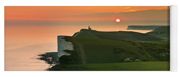 Sunset At The Belle Tout Lighthouse Yoga Mat