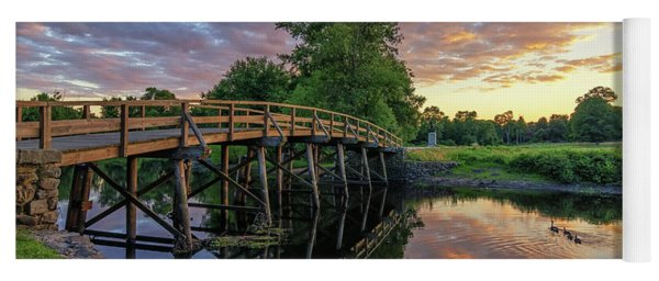 Sunset At The Old North Bridge Yoga Mat