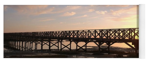 Sunset At The Wooden Bridge Yoga Mat