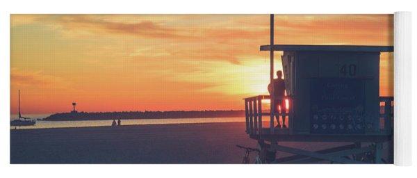 Sunset At Toes Beach Yoga Mat