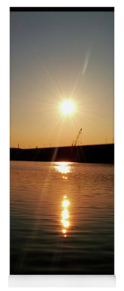 Sunset At Wolf Creek Dam Yoga Mat