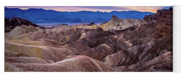 Sunset At Zabriskie Point In Death Valley National Park Yoga Mat
