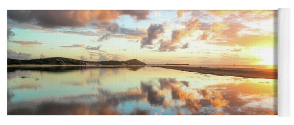 Sunset Beach Reflections Yoga Mat