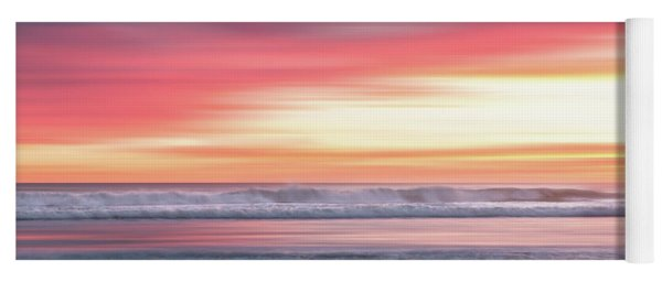 Yoga Mat featuring the photograph Sunset Blur - Pink by Patti Deters