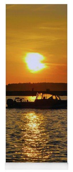 Sunset Boat Yoga Mat