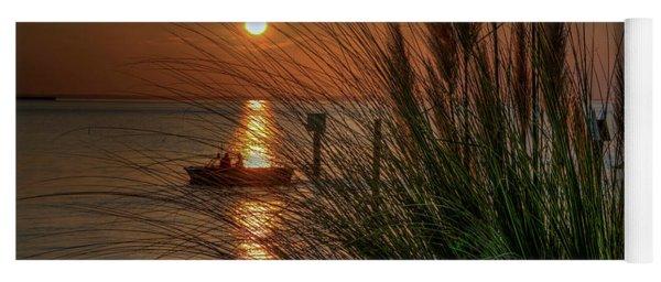 Sunset Boat Ride Yoga Mat