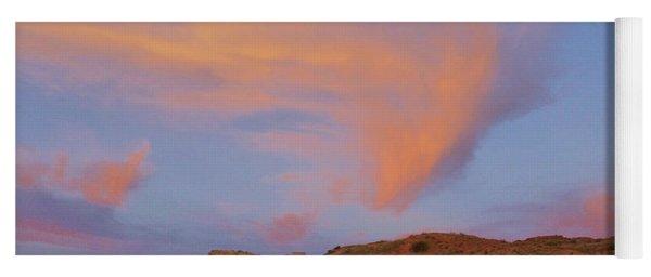 Sunset Clouds, Badlands Yoga Mat